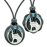 Unique Howling Wolf Moon Magic Amulet Lucky Donuts