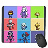 Nyanhif Fashion Undertale's Pixel Characters The Mouse Pad for Mens White