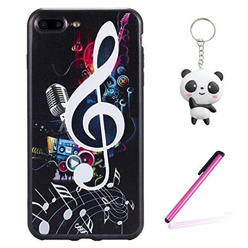 iPhone 8 Plus Hülle 3D Musik Note Premium Handy Tasche Schutz Schale Für Apple iPhone 8 Plus + Zwei Geschenk