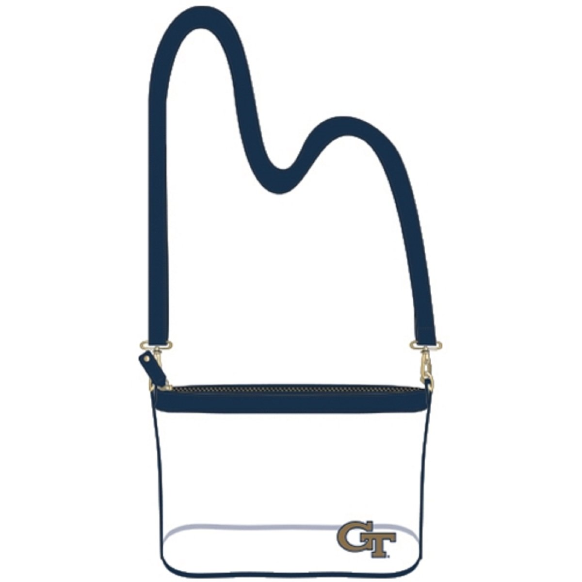 Clear Large Crossbody - Georgia Tech Georgia Tech Yellow Jackets Clear Purse