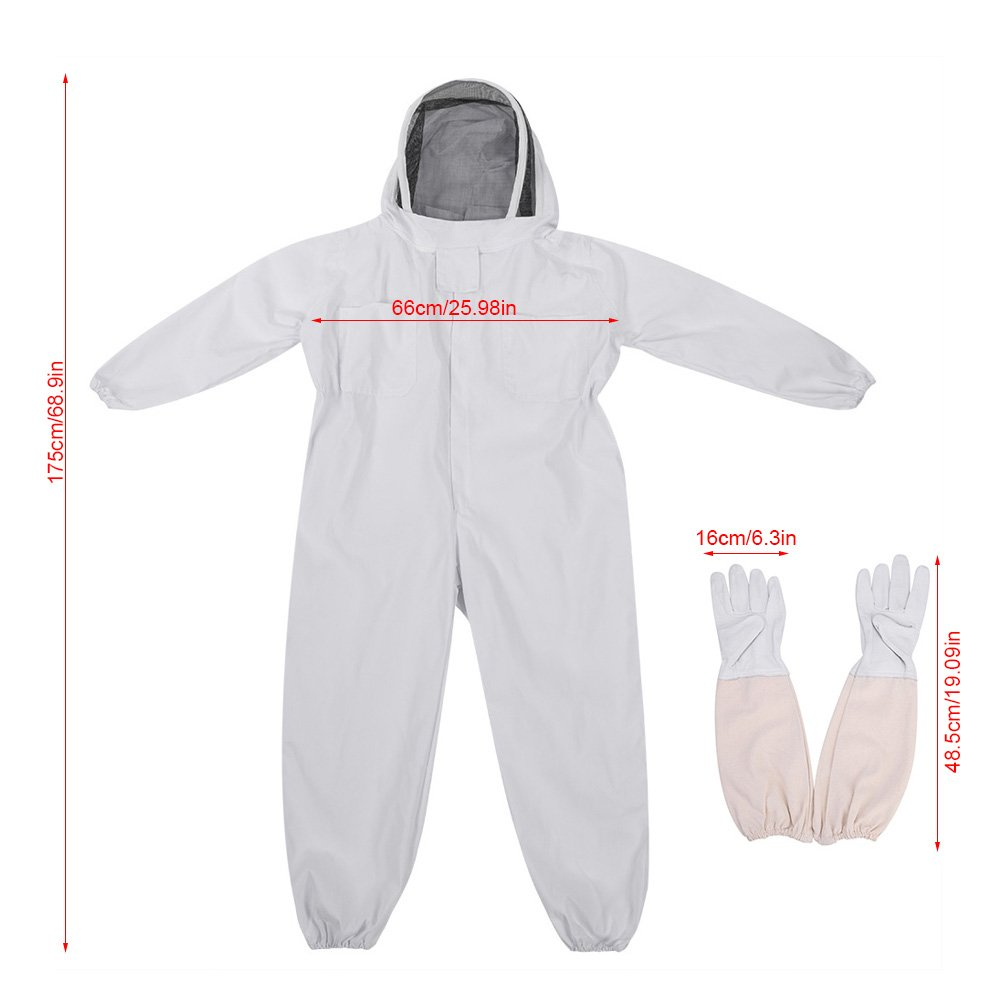 Amazon.com: Delaman Beekeeping Suit with Gloves ...