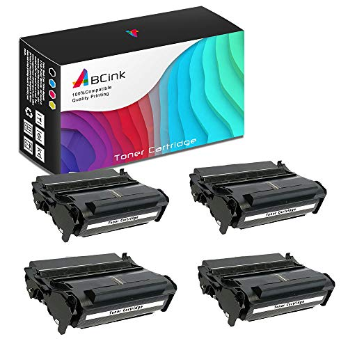 (ABCink Compatible Toner Cartridge Replacements for Lexmark 12A7315 12A7415,for use in Lexmark 4059,1200,1250,1650,2450,10000 Yields(4 Pack,Black))