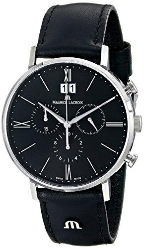 maurice-lacroix-mens-el1088-ss001-310-eliros-analog-display-analog-quartz-black-watch