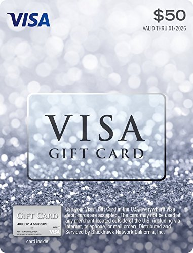 $50 Visa Gift Card (plus $4.95 Purchase Fee) (Best Electronic Gift Cards)