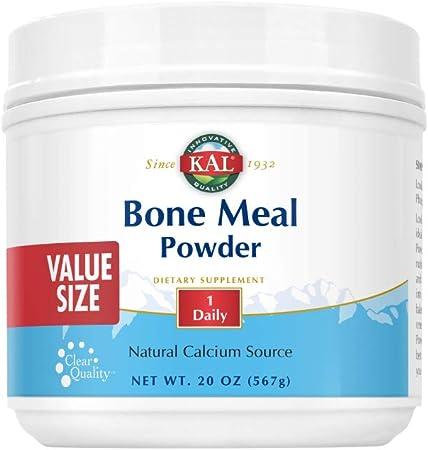 KAL Bone Meal Powder | Sterilized & Edible Supplement Rich in Calcium, Phosphorus, Magnesium | for Bones, Teeth, Nerves, Muscular Function (20oz)