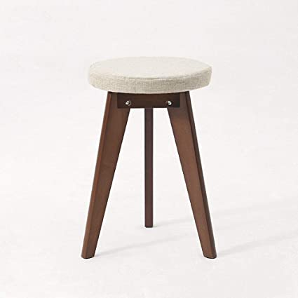 Fine Amazon Com Wh Solid Wood Round Stool Dressing Table Stool Ibusinesslaw Wood Chair Design Ideas Ibusinesslaworg