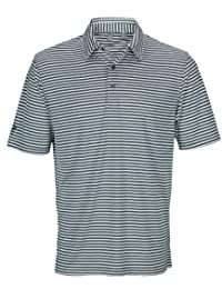 Ashworth Mens Performance Feed Stripe Golf Polo Shirt