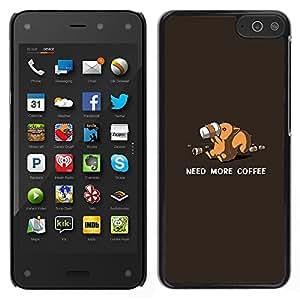 Stuss Case / Funda Carcasa protectora - Need More Coffee Squirrel - Funny - Amazon Fire Phone