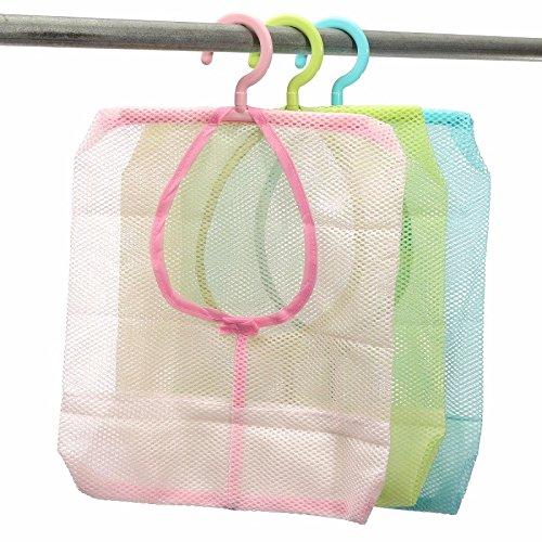 メッシュストレージバッグランドリーバスルームHanging折り畳み式ポップアップ洗濯服おもちゃNetオーガナイザーハンガーフック B01JIMV1B2