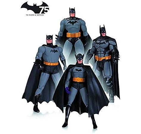DC Collectibles Batman 75th Anniversary Action Figure 4-Pack Set 1 ...