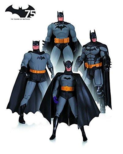 DC Collectibles Batman 75th Anniversary Action Figure 4-Pack Set 1 (Dc Collectibles Batman 75th Anniversary Action Figure)