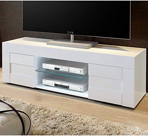 Kasalinea Newland - Mueble para televisor, Color Blanco Brillante ...