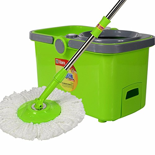 Innovative Turbo Three-Stage Stainless Steel Double Flooding The Cyclone Barrel Rotating Mop And A Mop Bucket