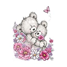 Wild Rose Studio CL485 Bear Hugs Stamp, 3.5 by 3, Clear by Wild Rose Studio