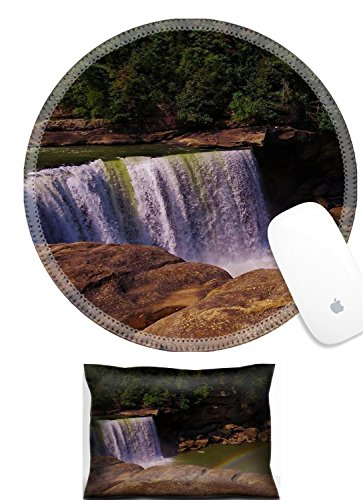 Luxlady Mouse Wrist Rest and Round Mousepad Set, 2pc IMAGE: 34247746 view of cumberland falls from overlook