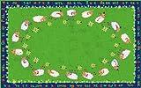 Kid Carpet FE769-22A Little Lambs Of God Nylon Area Rug, 4' x 6', Multicolored