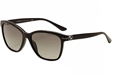 e19d6bc87c Amazon.com  Versace 4290B GB1 11 Black 4290B Wayfarer Sunglasses  Shoes