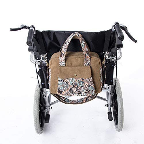 f4aba95ef29c Fushida Wheelchair Bag - Wheel Chair Storage Tote Accessory for Carrying  Loose Items and Accessories - Canvas Storage Bag with Smooth Zipper - ...