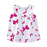 Mud Kingdom Little Girls Dresses 5 Butterfly Sleevelss Rose Red