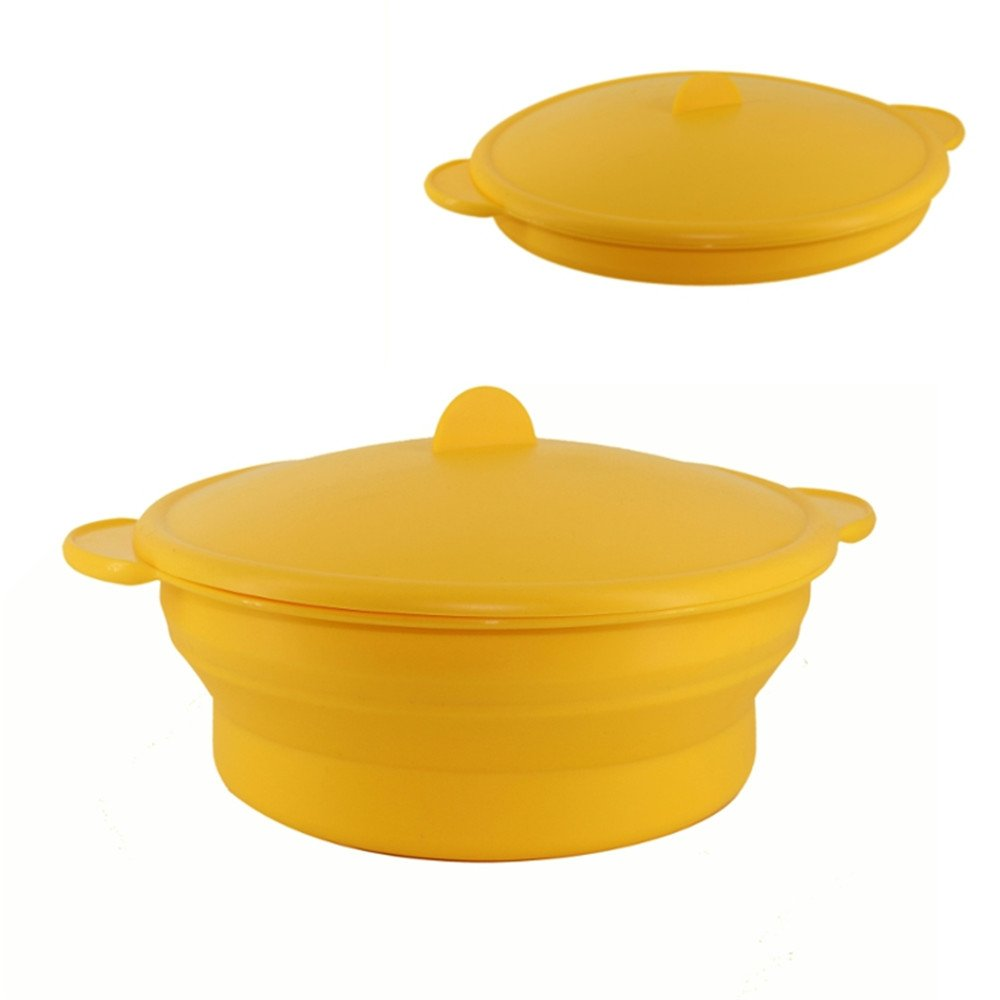 Collapsible Silicone Steamer Cooker Rice Grain Cereal Cooking Tools Bowl Plate Vegetable Steamer Cookware Tool by Xiaolanwelc