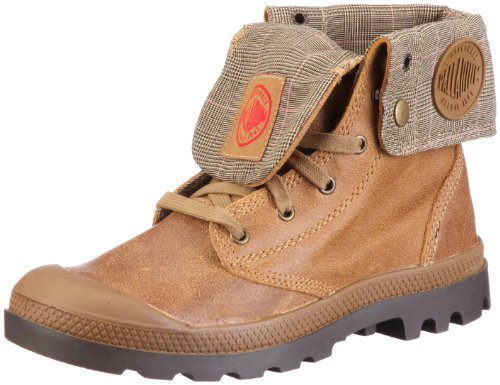 Palladium Baggy Leather~wheat/chocolate~m - Botas Hombre Marrón