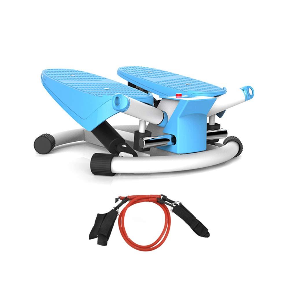 ミュートステッパー、家庭用減量マシンクライミングマシンフィットネス機器スリミング現場の足のマシンエアロビクス運動エクササイザ  青 B07GLS46L9