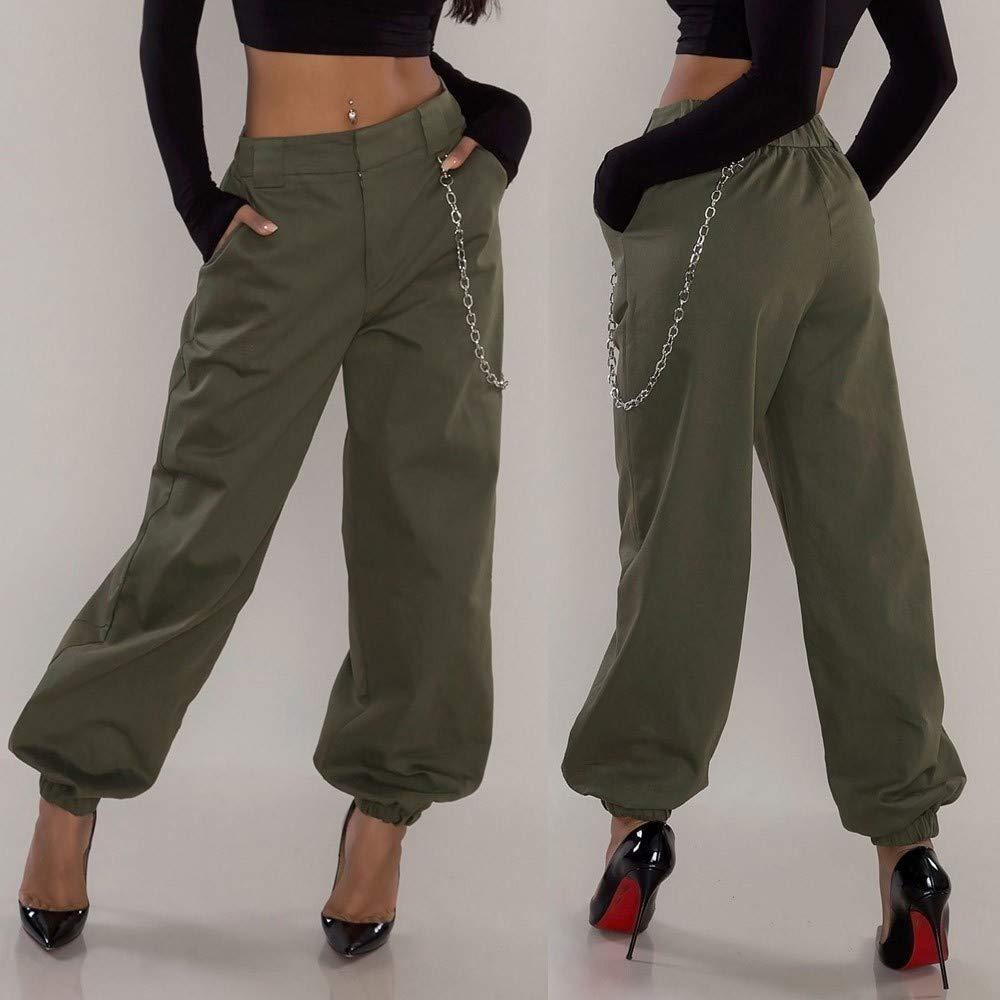 Amazon.com: Bingyelh Harem - Pantalón para mujer, para ...