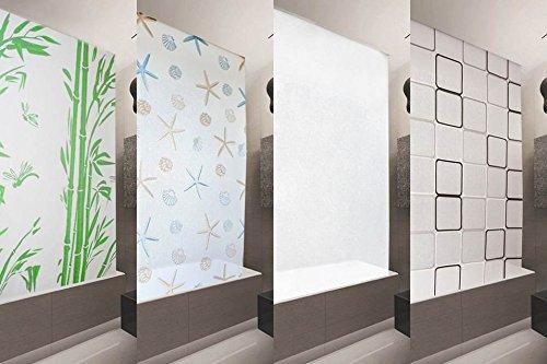 KS Handel Store de douche Basic 100x 240cm PEVA Milky Stone Transparent aspect Store SHOWER CURTAIN