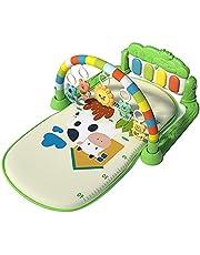 Almofada Jogo Para Bebês Pedal Música Piano Prateleira Rastejar, Com 12 Canções Ninar E 5 Brinquedos Suspensos Destacáveis, Centro Atividades Para Bebês E Crianças Pequenas
