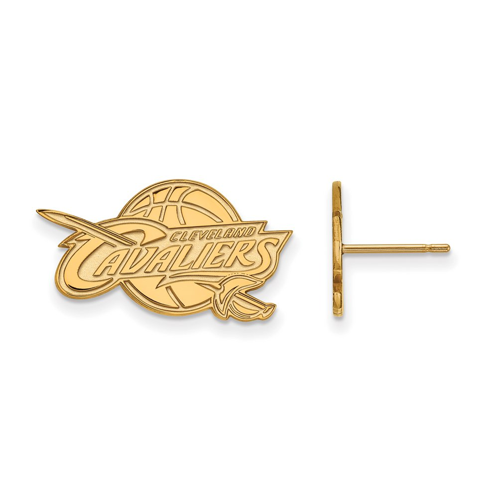 NBA Cleveland Cavs Post Earrings in 10K Yellow Gold