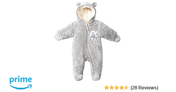 576960506 Amazon.com  LJ Unisex-Baby Hoodie Fleece Pram Snowsuit  Clothing