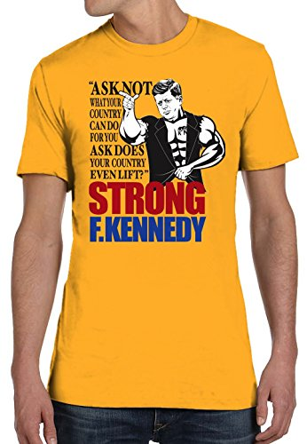 Bro Science Men's Strong F Kennedy T-Shirt XXX-Large - Kennedy Dom Shop