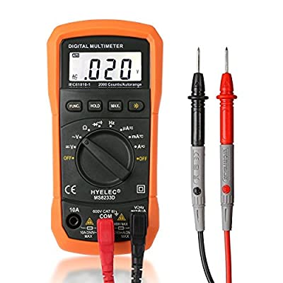 Digital Multimeter, Crenova MS8233D Auto-Ranging Digital Multimeters Electronic Measuring Instrument AC Voltage Detector Portable Amp / Ohm / Volt Test Meter Multi Tester w/ Diode and Continuity Test Scanners Home Use Electronic DIY Hand Tools with Backli