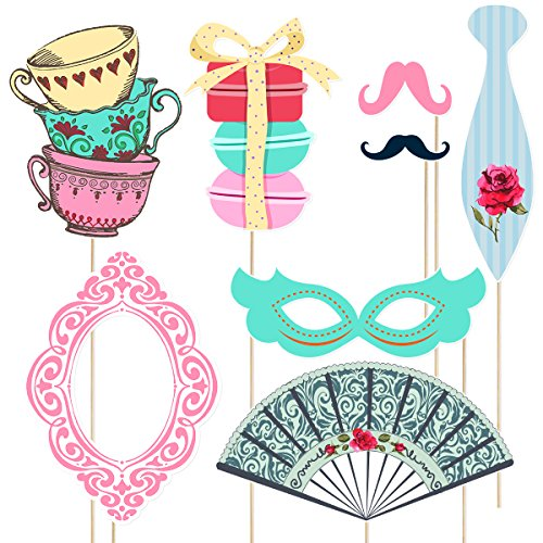 Tea-Party-Photo-Booth-Props-Stick-Funny-Supplies-Wedding-Bachelorette-Engagement thumbnail 4