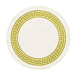 Royal Gold Greek Key Design Royal B Coaster, Package of 2500