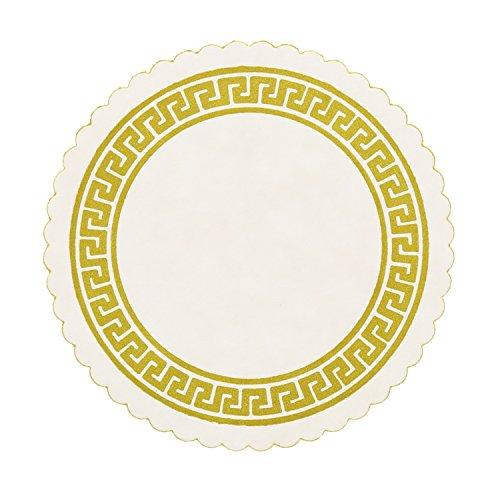 Royal Gold Greek Key Design Royal B Coaster, Case of 10,000 by Royal