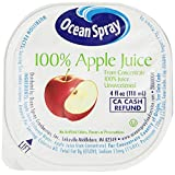 Ocean Spray 100% Apple Juice, 4 Ounce Cup (Pack of 48)