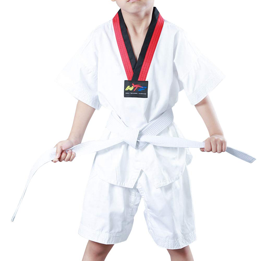 Yudesun Ni/ños Adulto Unisex Trajes Taekwondo Performance Escenario Artes Marciales Conjuntos Estudiantes Completo Dobok Gi Uniforme Rendimiento Judo Muay Thai Karate