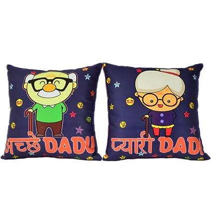 Buy dada dadi cushions set birthday anniversary gift for dada dadi dada dadi cushions set birthday anniversary gift for dada dadi thecheapjerseys Images