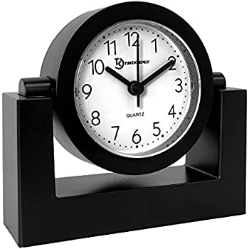 Amazon Com Timekeeper Desktop Swivel Clock For Desk