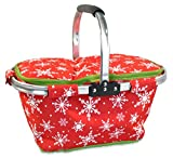 "DII Christmas Holiday Insulated Casserole Carrier, 10x16x3"", Perfect for Holidays"