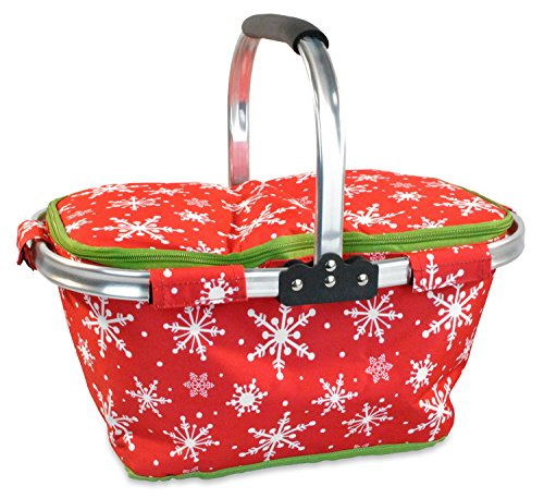 (DII Christmas Holiday Insulated Casserole Carrier, 10x16x3