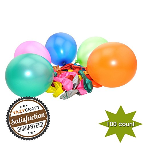 Balloons for Party -- Pearlized Crystal (Assorted Colors 100 count) Wholesale Bulk -- Yazycraft