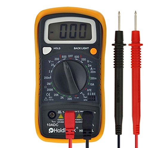 Price comparison product image 30% OFF Digital Multimeter Multi Tester HOLDPEAK 838L Manual-Ranging Multi Tester with Non Contact Voltage Test Volt Amp Ohm Meter with Diode and hFE Test
