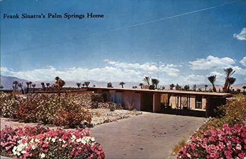 Desert Home of Frank Sinatra Palm Springs, California Original Vintage Postcard (Frank Sinatra Palm Springs)