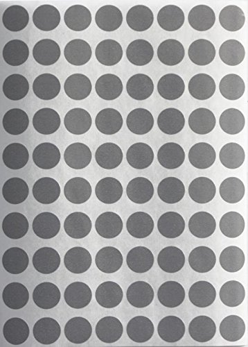 Gray dot stickers 13mm round labels 1/2