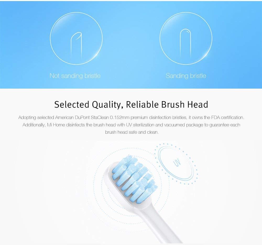 HAPQIN Xiaomi Home Sonic Cepillo de Dientes eléctrico General Brush Head Oral Care Tool 3pcs: Amazon.es: Hogar