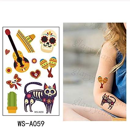 slldyax Death Day series niños tatuaje temporal pegatina ...