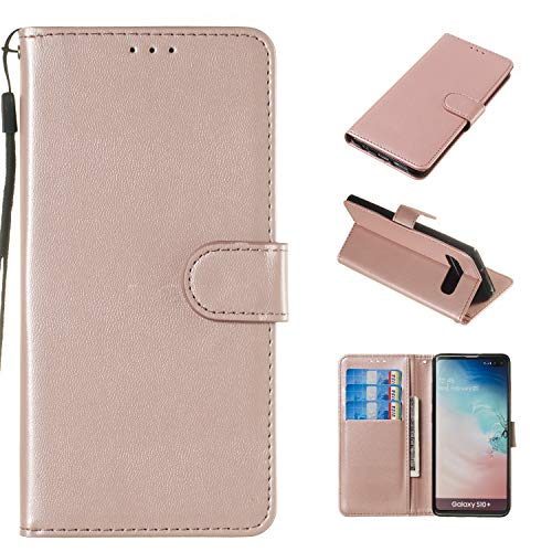 Belkin Hands Free Leather Case - Case for Galaxy S10 Plus, Galaxy S10 Plus Wallet Case, DOOGE PU Leather Luxury Cash Credit Card Slots Holder Carrying Folio Flip Cover with [Magnetic Blocking] Kickstand for Galaxy S10+ Plus (6.4