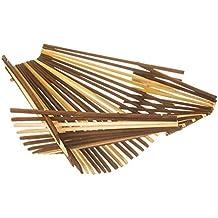 Chopstick Art Recycled Bamboo Chopstick Folding Basket, Large, Multi-Color